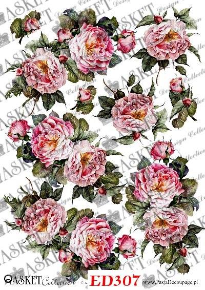 decoupage angielskie róże