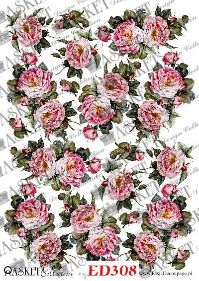 różyczki w pastelowych kolorach