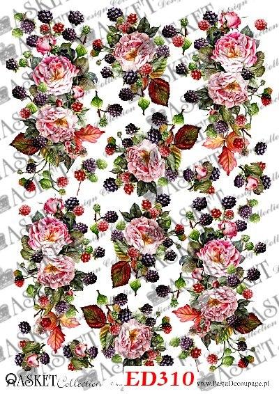 Decoupage Jeżyny i Róże