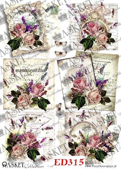 Róże z Lawendą