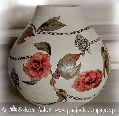 wazon decoupage klasyczny