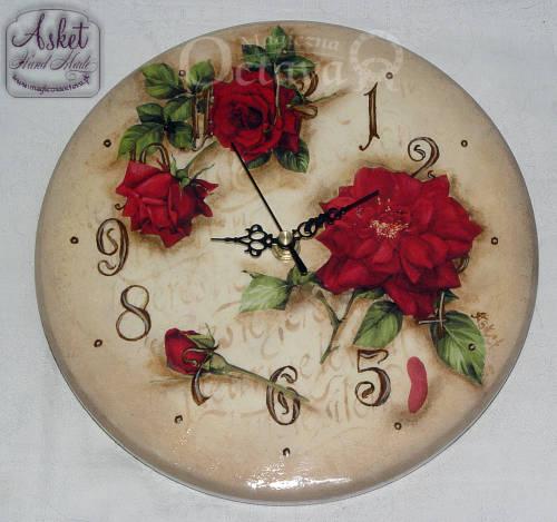 okrągły zegar tutorial diy