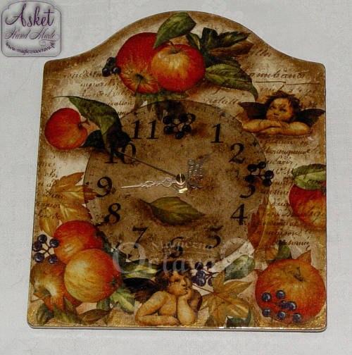 zegar z aniołkami kolaż