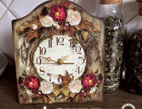 Zegary Decoupage-owe w Jesiennej Odsłonie – Tutorial