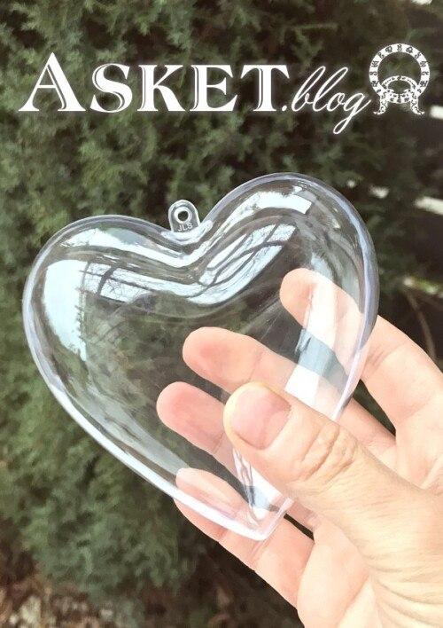 bombka serce akrylowa