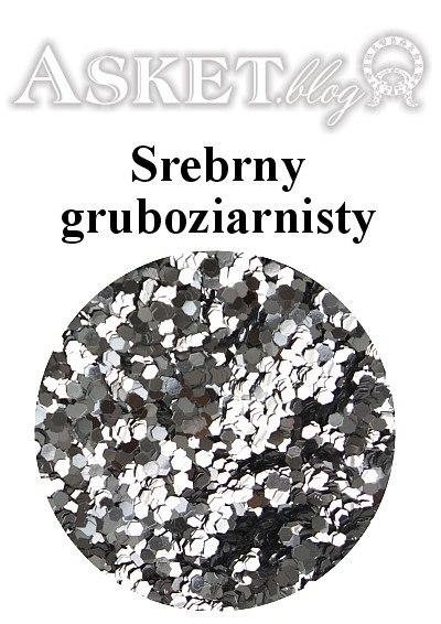 gruboziarnisty srebrny brokat