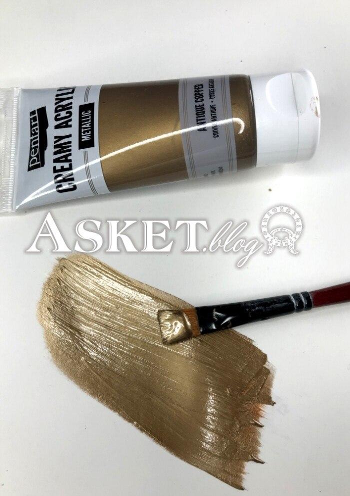 antyczny brąz metaliczna farba