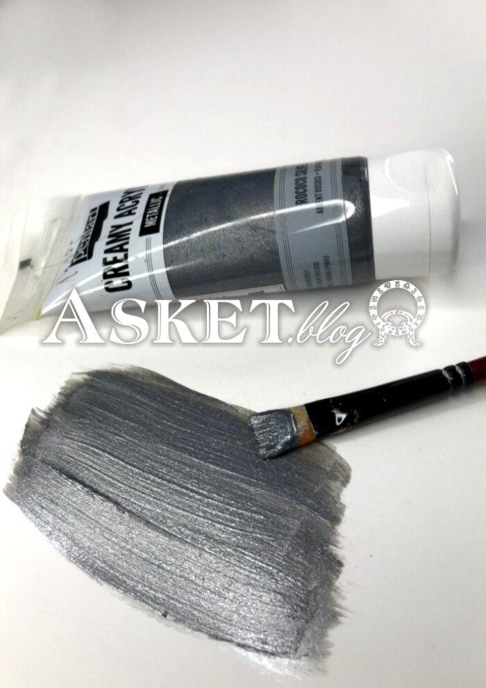 ciemne stare srebro farba