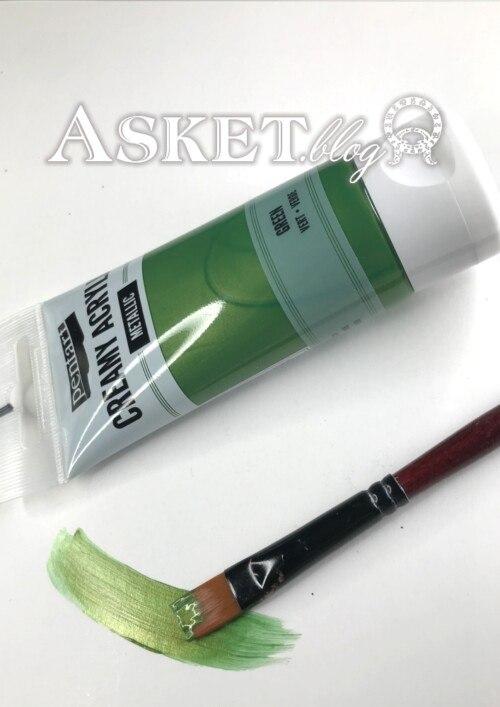 Zielony metaliczny farba