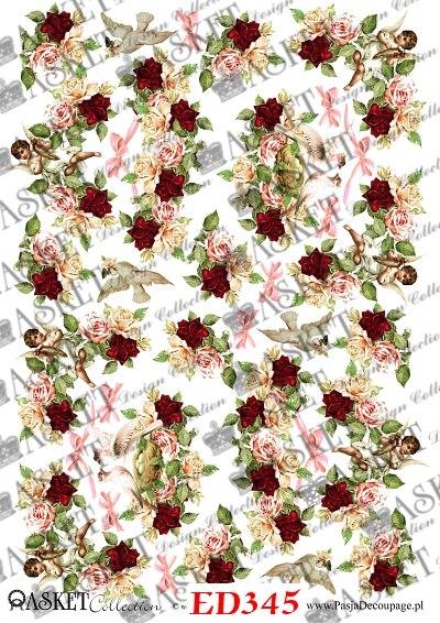 aniołki w różach