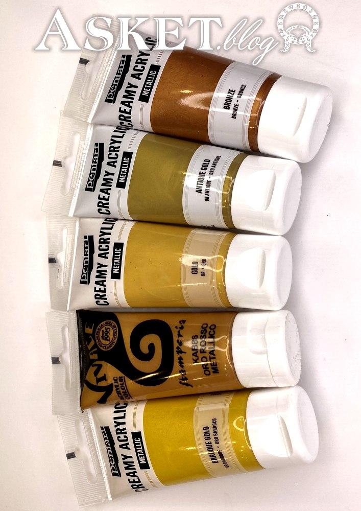 złote różne farby