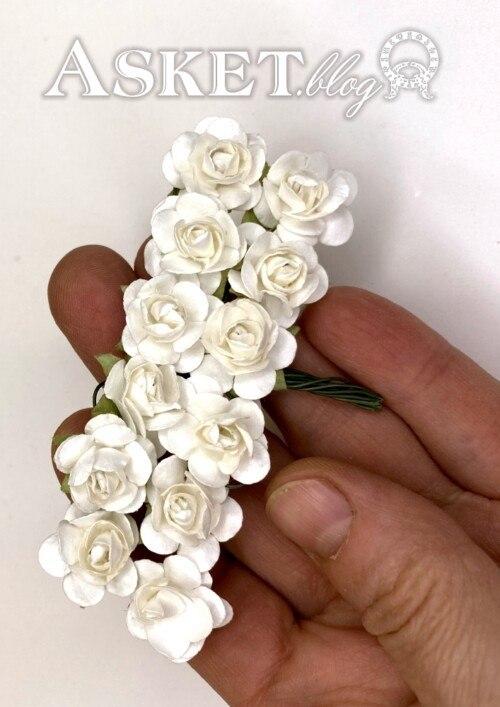 papierowe różyczki
