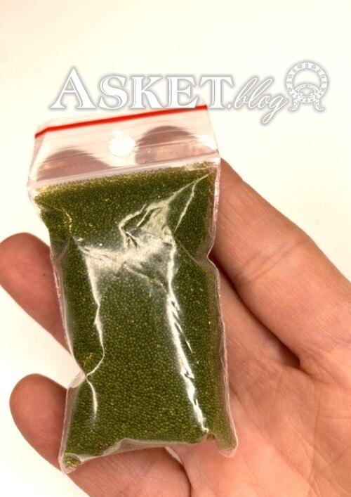 mikrokulki zielone przezroczyste