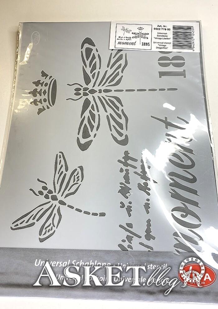 szablon ważki z koroną