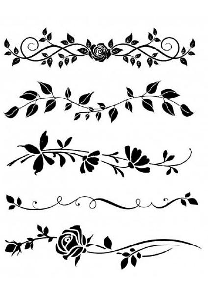5 rnamentów roślinnych