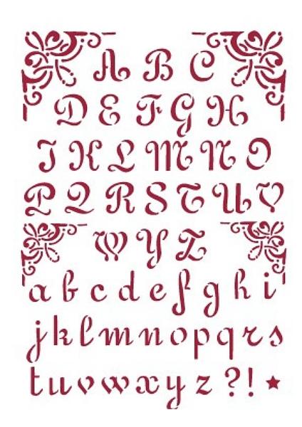 szablon alfabet napisy
