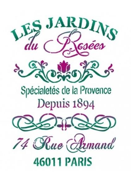 Napisy szablon Jardin roses