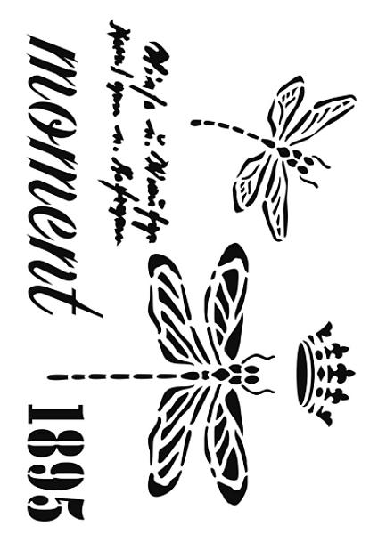 szablon z napisami i ważką