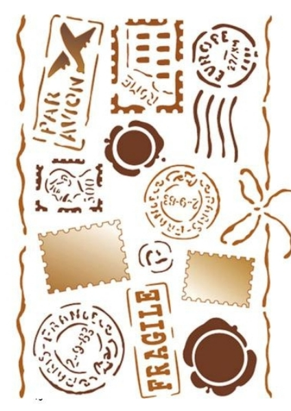 szablon stemple i znaczki