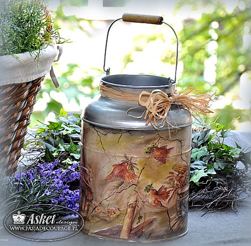 rustic style - milk can