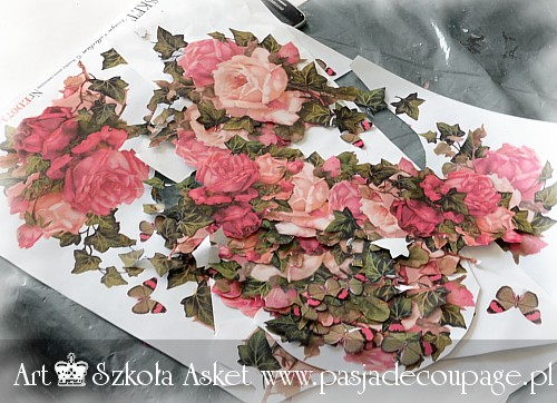 papier na manekina do decoupage asket